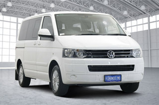 2015 Volkswagen Multivan T5 MY15 TDI340 DSG Comfortline White 7 Speed Sports Automatic Dual Clutch.
