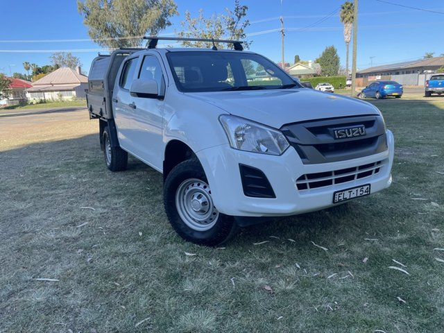 Pre-Owned Isuzu D-MAX MY18 SX Crew Cab 4x2 High Ride Moree, 2018 Isuzu D-MAX MY18 SX Crew Cab 4x2 High Ride White 6 Speed Sports Automatic Cab Chassis