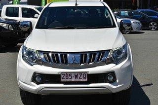 2016 Mitsubishi Triton MQ MY17 GLS (4x4) White 5 Speed Automatic Dual Cab Utility.