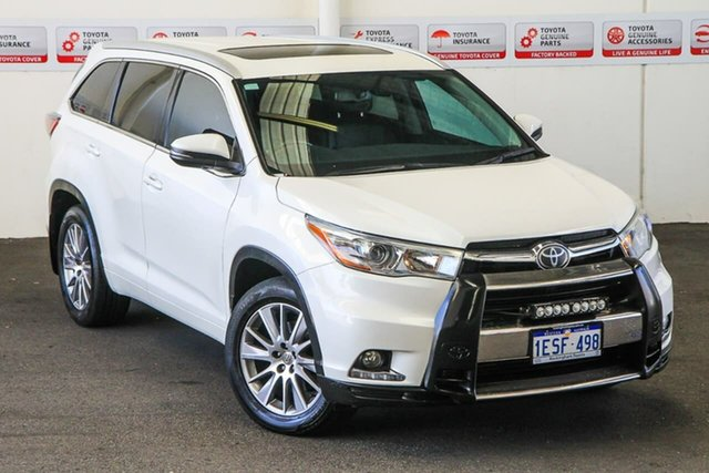 Pre-Owned Toyota Kluger GSU55R Grande (4x4) Rockingham, 2014 Toyota Kluger GSU55R Grande (4x4) Crystal Pearl 6 Speed Automatic Wagon