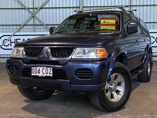 2005 Mitsubishi Challenger PA MY06 Blue 4 Speed Automatic Wagon.