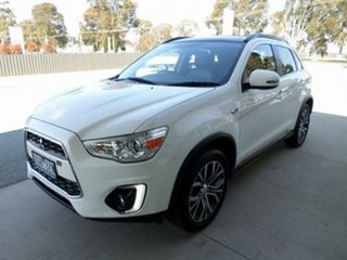 2016 Mitsubishi ASX XB MY15.5 XLS (2WD) White Solid Continuous Variable Wagon.