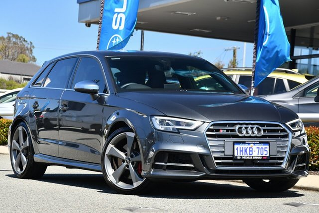 Used Audi S3 8V MY20 Sportback S Tronic Quattro Melville, 2020 Audi S3 8V MY20 Sportback S Tronic Quattro Grey 7 Speed Sports Automatic Dual Clutch Hatchback