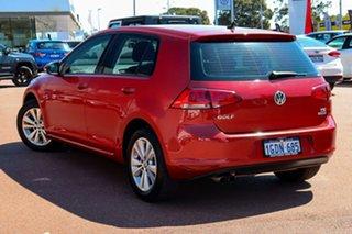 2016 Volkswagen Golf VII MY16 92TSI DSG Comfortline Red 7 Speed Sports Automatic Dual Clutch.