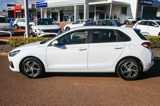 2020 Hyundai i30 PD.V4 MY21 Polar White 6 Speed Sports Automatic Hatchback.