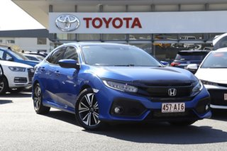 2017 Honda Civic 10th Gen MY17 VTi-LX Blue 1 Speed Constant Variable Hatchback.
