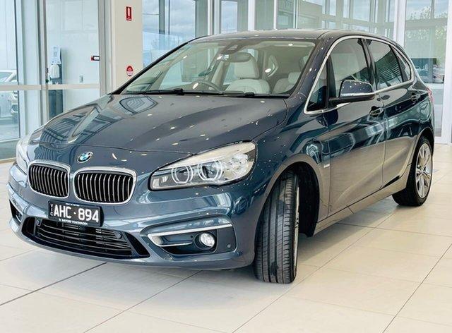 Used BMW 2 Series F45 220i Active Tourer Steptronic Luxury Line Essendon Fields, 2015 BMW 2 Series F45 220i Active Tourer Steptronic Luxury Line Grey 8 Speed Automatic Hatchback