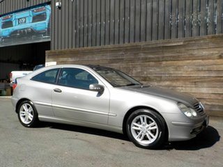 2004 Mercedes-Benz C-Class CL203 MY2003 C180 Kompressor Sports Silver 5 Speed Automatic Coupe.