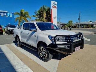 2017 Toyota Hilux GUN126R MY17 SR5 (4x4) Glacier White 6 Speed Automatic Dual Cab Utility.