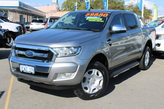 Used Ford Ranger PX MkII XLT Double Cab Midland, 2015 Ford Ranger PX MkII XLT Double Cab Grey 6 Speed Manual Utility