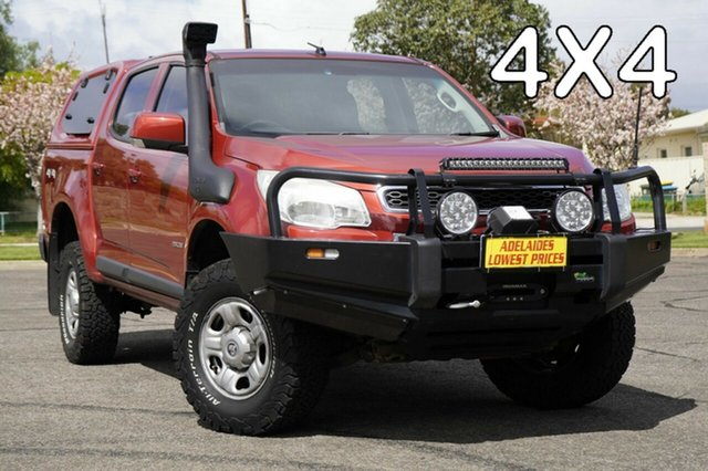 Used Holden Colorado RG MY13 LX Crew Cab Enfield, 2012 Holden Colorado RG MY13 LX Crew Cab Red 6 Speed Sports Automatic Utility