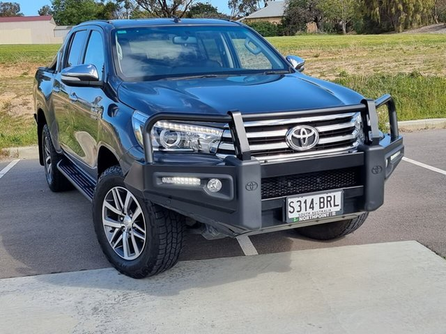 Used Toyota Hilux GUN126R SR5 Double Cab Victor Harbor, 2017 Toyota Hilux GUN126R SR5 Double Cab Grey 6 Speed Sports Automatic Utility
