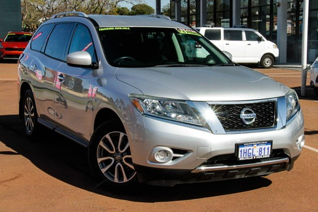 Used Nissan Pathfinder R52 MY14 ST X-tronic 2WD Attadale, 2014 Nissan Pathfinder R52 MY14 ST X-tronic 2WD Silver 1 Speed Constant Variable Wagon