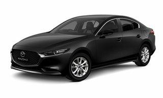 2021 Mazda 3 BP2S7A G20 SKYACTIV-Drive Pure Black 6 Speed Sports Automatic Sedan
