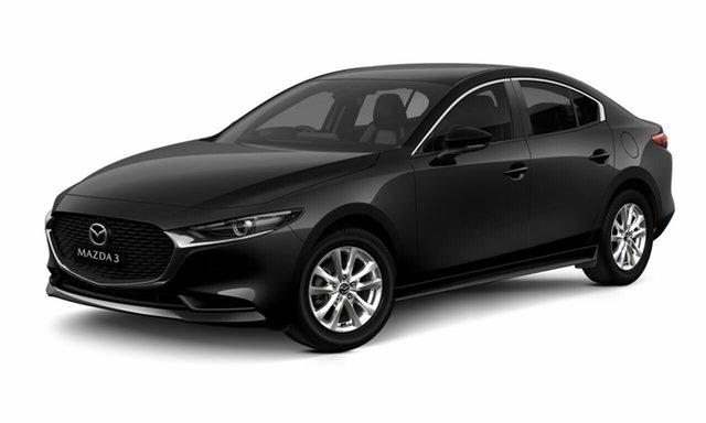 New Mazda 3 BP2S7A G20 SKYACTIV-Drive Pure Waitara, 2021 Mazda 3 BP2S7A G20 SKYACTIV-Drive Pure Black 6 Speed Sports Automatic Sedan