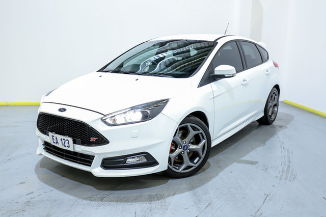 Used Ford Focus LZ ST Canning Vale, 2015 Ford Focus LZ ST White 6 Speed Manual Hatchback