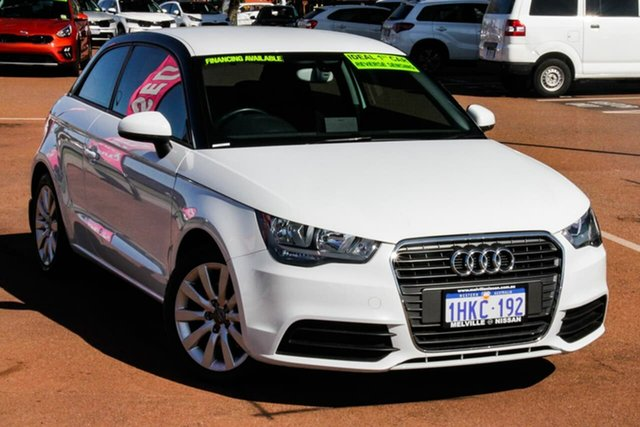 Used Audi A1 8X MY13 Attraction Sportback S Tronic Attadale, 2013 Audi A1 8X MY13 Attraction Sportback S Tronic White 7 Speed Sports Automatic Dual Clutch