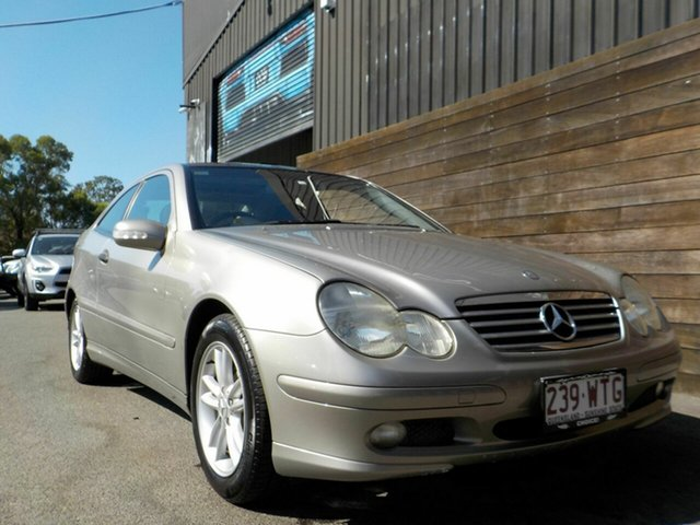 Used Mercedes-Benz C-Class CL203 MY2003 C180 Kompressor Sports Labrador, 2004 Mercedes-Benz C-Class CL203 MY2003 C180 Kompressor Sports Silver 5 Speed Automatic Coupe