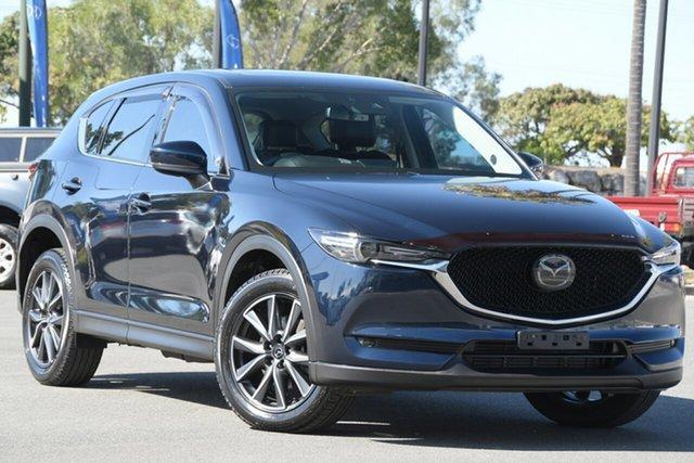 Used Mazda CX-5 KE1022 Akera SKYACTIV-Drive i-ACTIV AWD North Lakes, 2017 Mazda CX-5 KE1022 Akera SKYACTIV-Drive i-ACTIV AWD Blue 6 Speed Sports Automatic Wagon