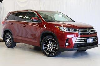 2018 Toyota Kluger GSU55R Grande AWD Red 8 Speed Sports Automatic Wagon.
