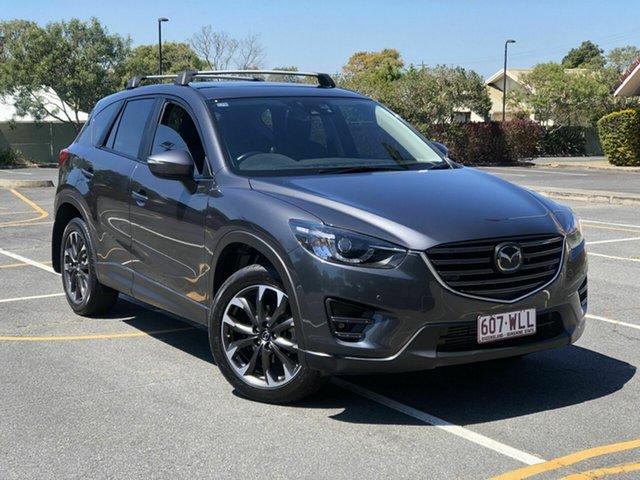 Used Mazda CX-5 KE1022 Akera SKYACTIV-Drive AWD Chermside, 2016 Mazda CX-5 KE1022 Akera SKYACTIV-Drive AWD Grey 6 Speed Sports Automatic Wagon