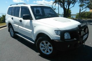 2010 Mitsubishi Pajero NT MY11 GLX White 5 Speed Sports Automatic Wagon.