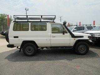 1999 Toyota Landcruiser HZJ78R White 5 Speed Manual Troop Carrier