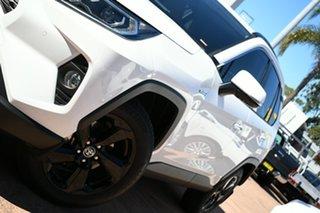 2021 Toyota RAV4 Axah52R Cruiser (2WD) Hybrid White Continuous Variable Wagon.
