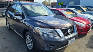 2013 Nissan Pathfinder R52 ST (4x2) Blue Continuous Variable Wagon.