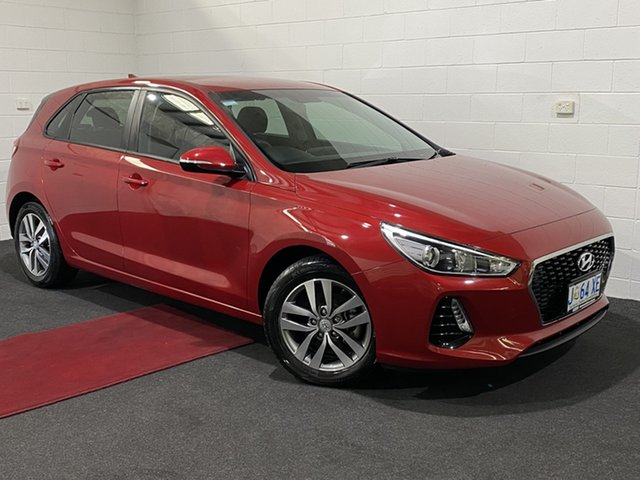 Used Hyundai i30 PD2 MY18 Active Glenorchy, 2018 Hyundai i30 PD2 MY18 Active Fiery Red 6 Speed Sports Automatic Hatchback