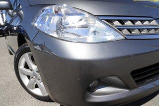 2010 Nissan Tiida C11 MY07 TI Slate Grey 4 Speed Automatic Sedan.