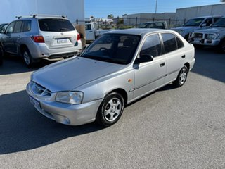 2002 Hyundai Accent LC GL Silver 4 Speed Automatic Hatchback.