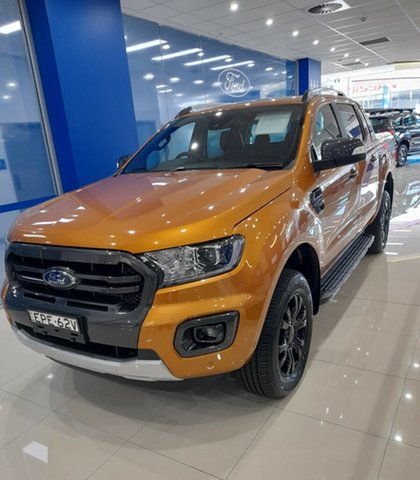 Demo Ford Ranger PX MkIII 2021.75MY Wildtrak Homebush, 2021 Ford Ranger PX MkIII 2021.75MY Wildtrak Saber 10 Speed Sports Automatic Double Cab Pick Up