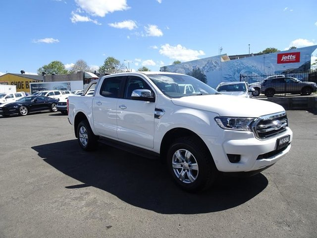 Used Ford Ranger PX MkIII 2021.25MY XLT Double Cab Nowra, 2020 Ford Ranger PX MkIII 2021.25MY XLT Double Cab Arctic White 6 Speed Automatic Double Cab Chassis