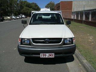 2003 Toyota Hilux RZN154R MY02 Xtra Cab 4x2 White 5 Speed Manual Utility.