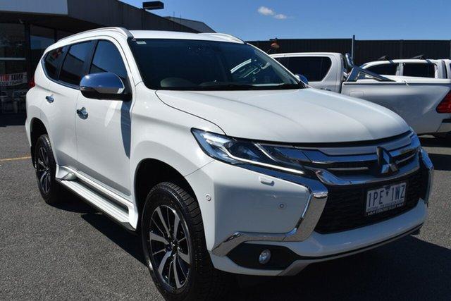 Used Mitsubishi Pajero Sport QE MY18 Exceed Wantirna South, 2018 Mitsubishi Pajero Sport QE MY18 Exceed White 8 Speed Sports Automatic Wagon