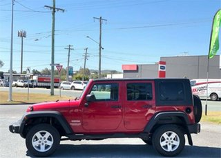 2007 Jeep Wrangler JK Unlimited Sport Red 4 Speed Automatic Softtop