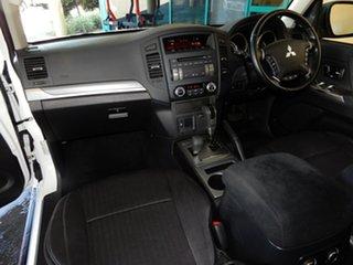 2012 Mitsubishi Pajero NW MY13 GLX-R LWB (4x4) White 5 Speed Auto Sports Mode Wagon.