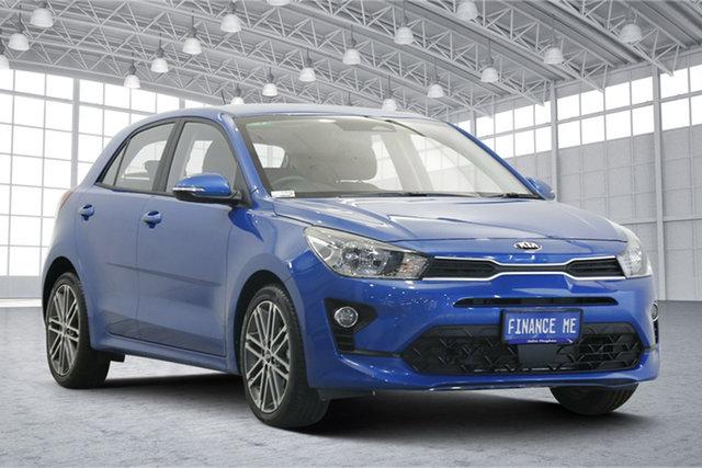 Used Kia Rio YB MY20 Sport Victoria Park, 2020 Kia Rio YB MY20 Sport Sporty Blue 6 Speed Automatic Hatchback