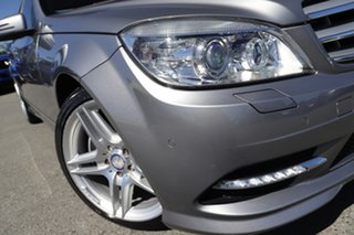 2010 Mercedes-Benz C-Class W204 MY10 C250 CGI Avantgarde Palladium Silver 5 Speed Sports Automatic.