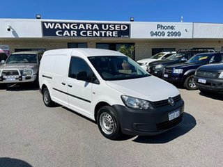 2012 Volkswagen Caddy 2K MY12 TSI160 White 5 Speed Manual Van.