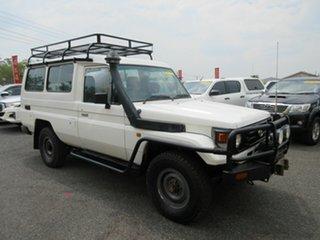 1999 Toyota Landcruiser HZJ78R White 5 Speed Manual Troop Carrier.