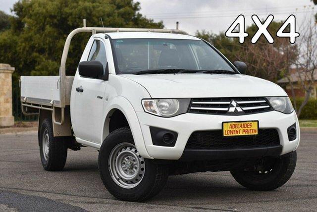 Used Mitsubishi Triton MN MY15 GLX Strathalbyn, 2015 Mitsubishi Triton MN MY15 GLX White 5 Speed Manual Cab Chassis