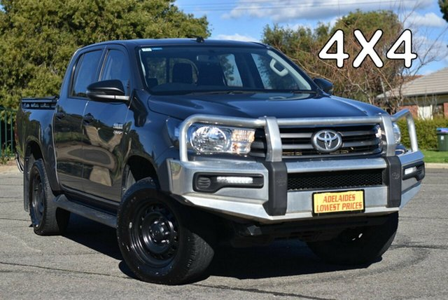 Used Toyota Hilux GUN126R SR Double Cab Enfield, 2018 Toyota Hilux GUN126R SR Double Cab Grey 6 Speed Sports Automatic Utility