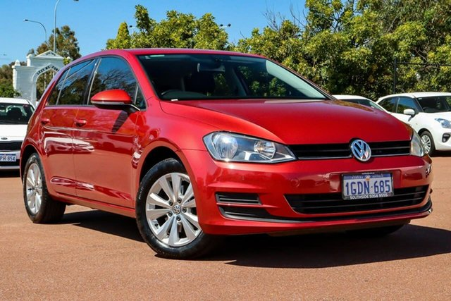 Used Volkswagen Golf VII MY16 92TSI DSG Comfortline Cannington, 2016 Volkswagen Golf VII MY16 92TSI DSG Comfortline Red 7 Speed Sports Automatic Dual Clutch