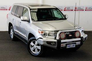 2015 Toyota Landcruiser VDJ200R MY13 Sahara (4x4) Silver Pearl 6 Speed Automatic Wagon.