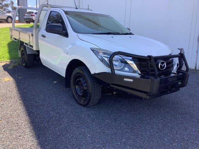 Used Mazda BT-50 UR0YE1 XT 4x2 Maitland, 2018 Mazda BT-50 UR0YE1 XT 4x2 White 6 Speed Manual Cab Chassis