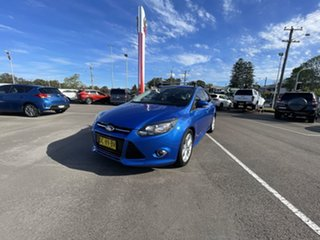 2015 Ford Focus LW MkII MY14 Sport PwrShift Blue 6 Speed Sports Automatic Dual Clutch Hatchback.