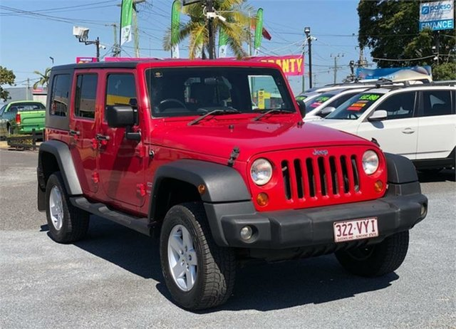 Used Jeep Wrangler JK Unlimited Sport Archerfield, 2007 Jeep Wrangler JK Unlimited Sport Red 4 Speed Automatic Softtop