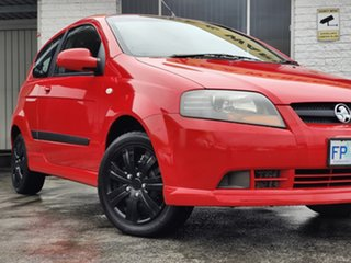 2007 Holden Barina TK MY07 Chilli Red 4 Speed Automatic Hatchback.